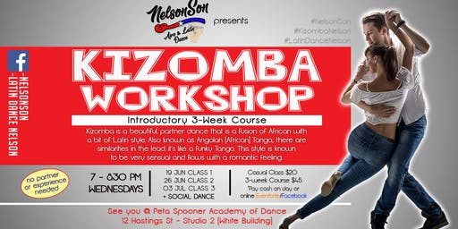 Kizomba Workshop Nelson [3-Weeks Course]