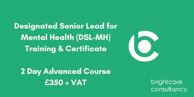 Designated Senior Lead for Mental Health (DSL-MH) Training & Certificate 2 Day Advanced Course: Southampton