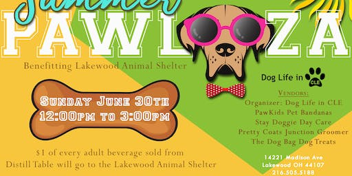 Distill Table's Summer Paw-Looza Event benefiting the Lakewood Animal Shelter