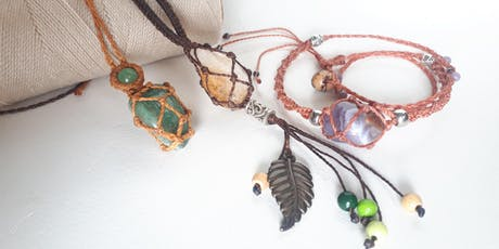 Workshop Macrame jewellery: wrap a stone tickets