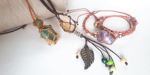Workshop Macrame jewellery: wrap a stone
