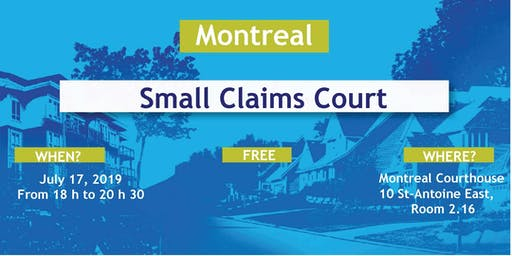 Free session for all: SMALL CLAIMS COURT