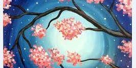 Create & Sip Art Experience - Mystic Moon With Cherry Blossoms