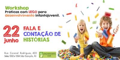 Workshop práticas com Lego: fala e contação de histórias