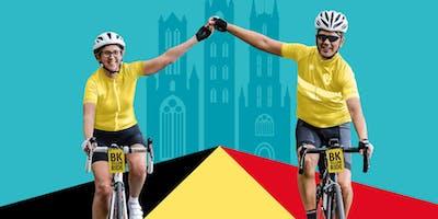 BK Yellow Ride - Rit van De Velodroom naar het BK te Gent
