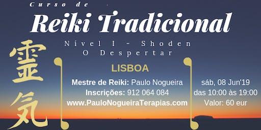 CURSO DE Reiki Tradicional Nível I em LISBOA em Nov'19 c/ Paulo Nogueira