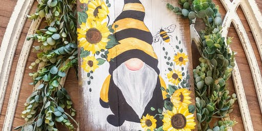 Sunflower Gnome Paint Night