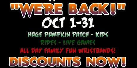 FuntownFrightFest & Pumpkin Patch Petting Zoos  Ki tickets