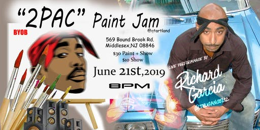 2Pac Paint Jam Art Session and live performance