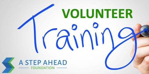 Outreach Volunteer Training - Saturday, July 20