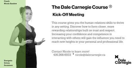 Dale Carnegie Course® - Kick-off (Toronto) tickets