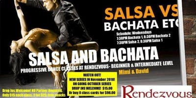 Salsa and Bachata Progressive Classes on Wednesdays in North Bethesda