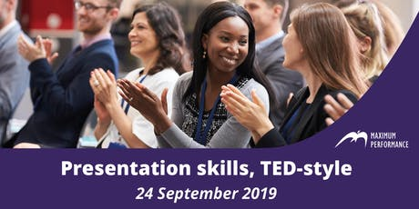 Presentation skills, TED-style (24 September 2019) tickets