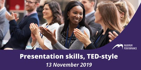 Presentation skills, TED-style (13 November 2019) tickets
