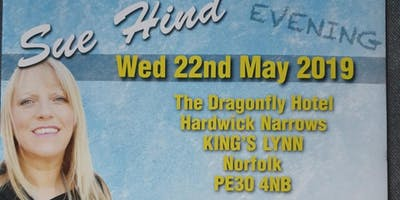 An Evening of Mediumship with the wonderful Sue Hind Wed 22/05/19 7pm-10pm