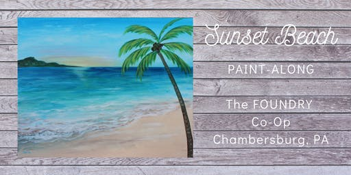"Paint-Along ""Sunset Beach"""