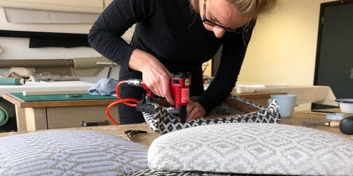 Upholstery drop in seat Course at the Maker Station