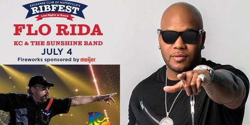FLO RIDA and KC and The Sunshine Band: July 4th Naperville's Ribfest at Knoch Park