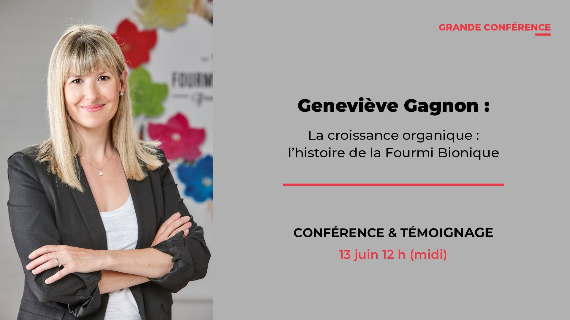 Grande conférence avec Geneviève Gagnon de la Fourmi Bionique
