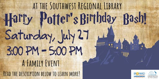 Harry Potter's Library Birthday Bash! At the Southwest Regional Library.