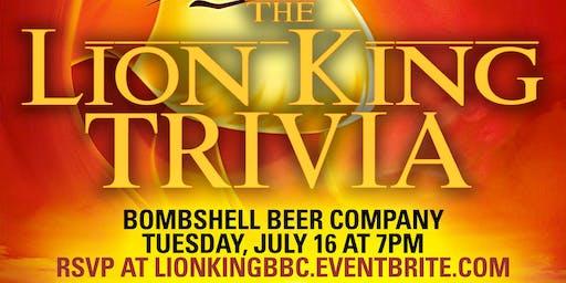 Lion King Trivia at Bombshell Beer Company