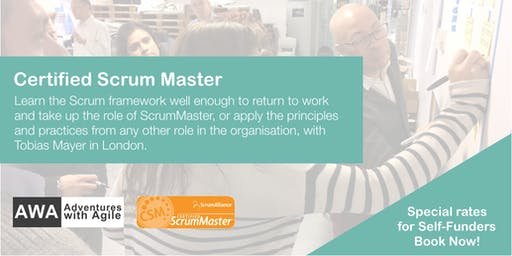 Certified Scrum Master (CSM) Course - From £600 +VAT | August | London