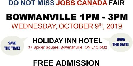 FREE: Bowmanville Job Fair – October 9th, 2019 tickets