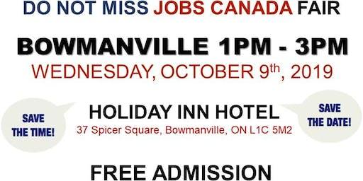 FREE: Bowmanville Job Fair – October 9th, 2019