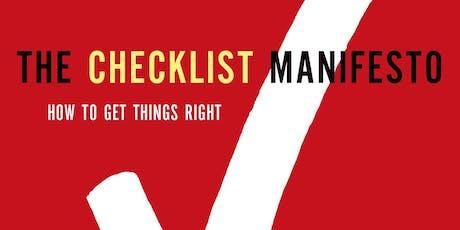 GovLabPHL Bookclub Panel Discussion: The Checklist Manifesto tickets