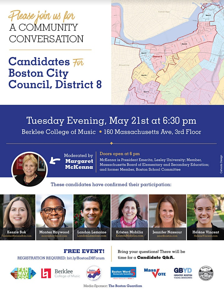 A Community Conversation with the Boston D8 City Council Candidates image