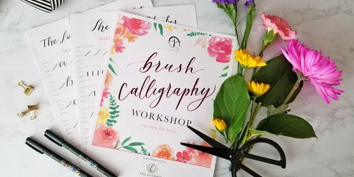 Blooms & Lettering:  Intro to Floral Arrangements & Brush Pen Calligraphy