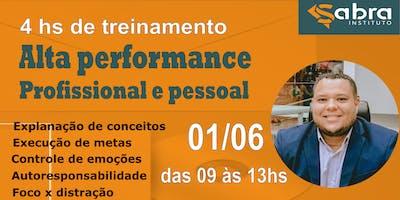 4hs de Treinamento - Alta performance Profissional e pessoal