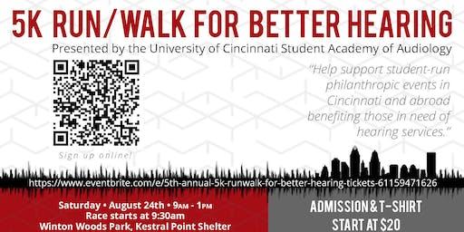 5th Annual 5K Run/Walk for Better Hearing