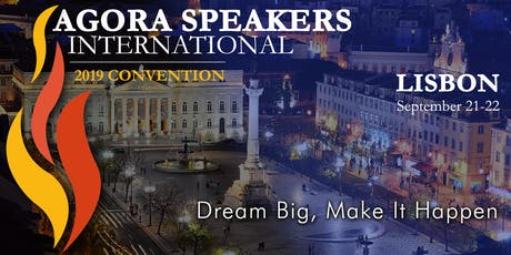 Agora Speakers International Convention 2019 bilhetes