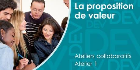 Proposition de valeur - Atelier collaboratif (1) billets