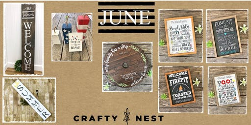 June 20th Public Workshop at The Crafty Nest (Northborough)