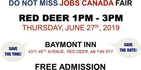 FREE: Red Deer Job Fair – June 27th, 2019 tickets