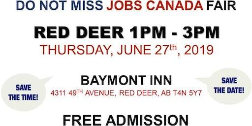 FREE: Red Deer Job Fair – June 27th, 2019
