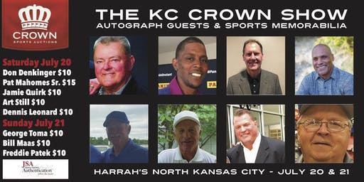 THE KC CROWN SHOW - Autograph Signings & Sports Memorabilia