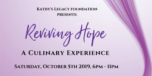 Reviving Hope - A Culinary Experience