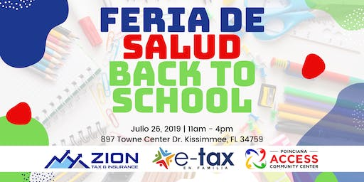 FERIA DE SALUD - BACK TO SCHOOL