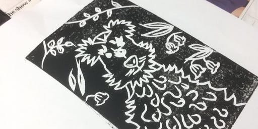 Lino Printing Workshop at HolmfirthTech