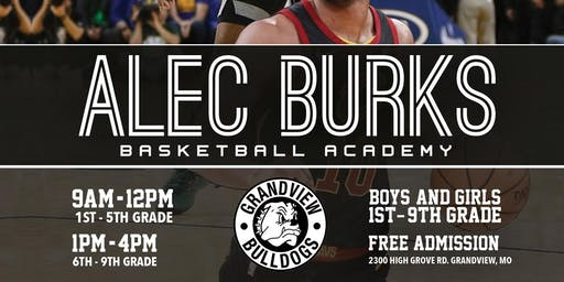 Alec Burks FREE Basketball Camp 1st- 5th Graders