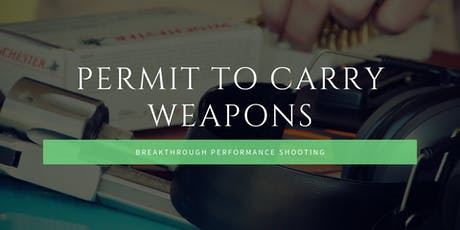 Permit to Carry Weapons (CCW) tickets