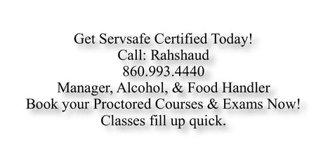 Servsafe Proctor Hartford Online Course + Exam $100 - $250 (860) 993-4440 tickets