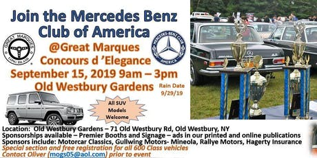 Great Marques Concours d'Elegance 2019 MBCA NYC LI tickets