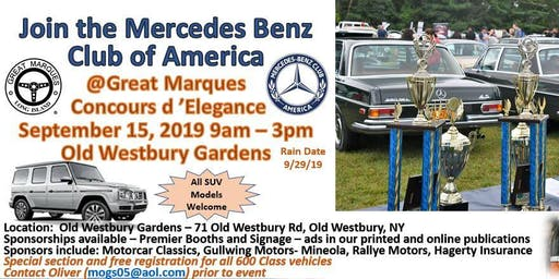 Great Marques Concours d'Elegance 2019 MBCA NYC LI