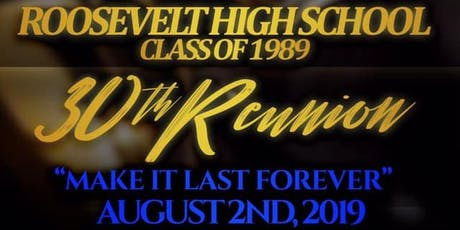 Roosevelt Class of 89 30th Reunion tickets