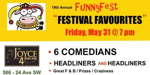 Friday, May 31 @ 7 pm - FunnyFest Favourites - 6...