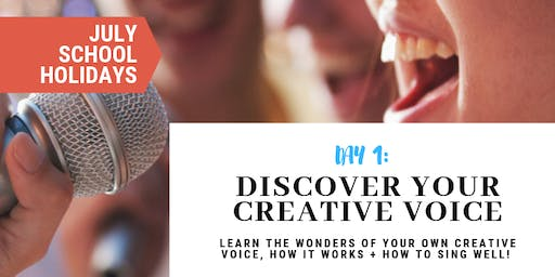 Discover Your Creative Voice | JULY School Holidays at Sydney Voice Studio